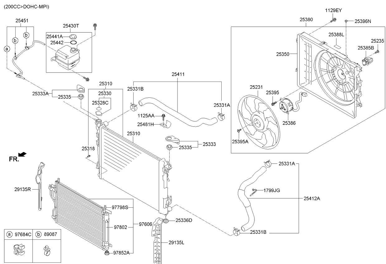 Патрубок радиатора нижний KIA Sportage 3 (2010-2015)