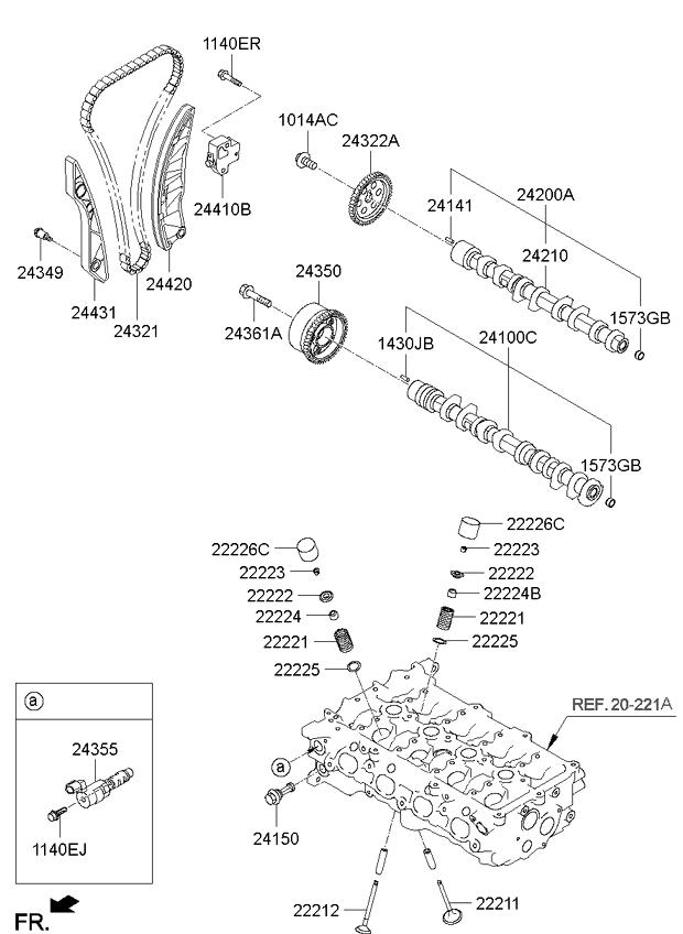 Натяжитель цепи ГРМ KIA Ceed 1 (2007-2012)
