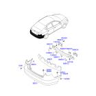 Абсорбер бампера заднего Hyundai Elantra 4 (2006-2010)