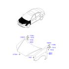 Капот Hyundai Elantra 4 (2006-2010)