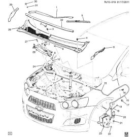 Насос омывателя лобового стекла Chevrolet Aveo T300 (2012-2017)