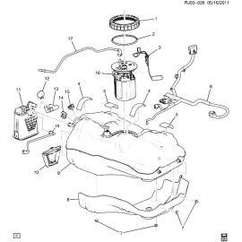 Насос топливный в сборе (модуль) Chevrolet Aveo T300 (2012-2017)