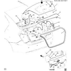 Замок крышки багажника седан Chevrolet Aveo T300 (2012-2017)