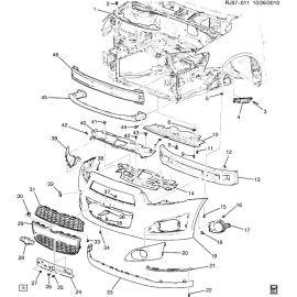 Спойлер переднего бампера Chevrolet Aveo T300 (2012-2017)