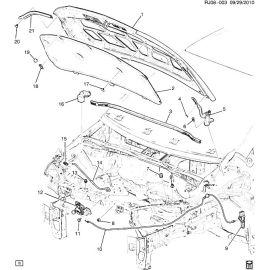 Уплотнение боковой части капота Chevrolet Aveo T300 (2012-2017)