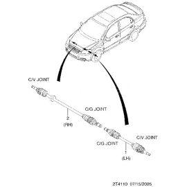 Привод левый в сборе Chevrolet Aveo T250 (2006-2012)