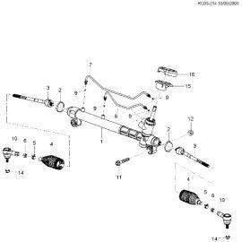 Пыльник рейки рулевой Chevrolet Spark M300 (2010-2015)