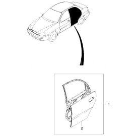 Дверь задняя правая Chevrolet Lanos (2005-2009)
