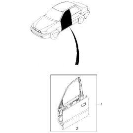 Дверь передняя правая Chevrolet Lanos (2005-2009)