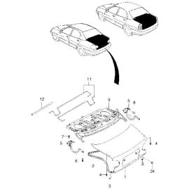 Крышка багажника Chevrolet Lanos (2005-2009)