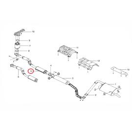 Глушитель передняя часть МКПП Daewoo Gentra
