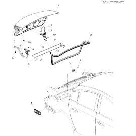 Крышка багажника Chevrolet Cruze сеадан (2009-2015)