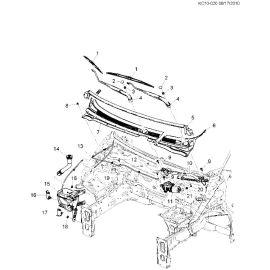 Насос омывателя заднего стекла Chevrolet Spark M300 (2010-2015)