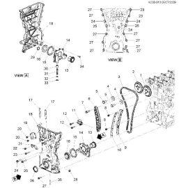 Натяжитель цепи ГРМ 1.0-1.2 Chevrolet Spark M300 (2010-2015)