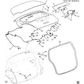 Амортизатор крышки багажника левый Chevrolet Spark M300 (2010-2015)