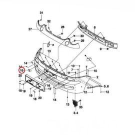 Заглушка бампера переднего Daewoo Matiz