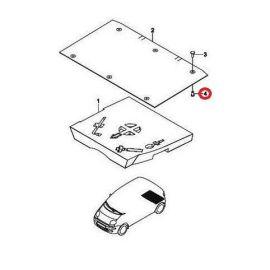 Клипса обивки багажника Daewoo Matiz