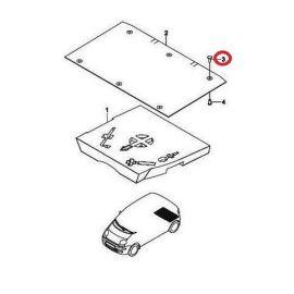 Клипса обшивки пола багажника Daewoo Matiz