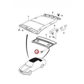 Клипса багажника боковая Daewoo Nexia