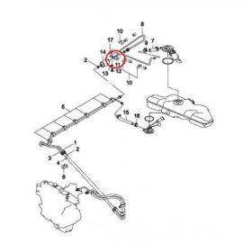 Кронштейн крепления топливного фильтра Daewoo Nexia