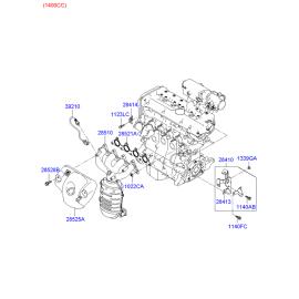 Прокладка выпускного коллектора Hyundai Accent (2001-2006)