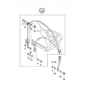 Ремень безопасности передний правый Daewoo Matiz