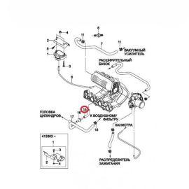 Шланг вентиляционный Daewoo Matiz