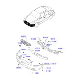 Бампер передний Hyundai Accent (2001-2006)