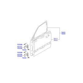 Дверь передняя правая Hyundai Accent (2001-2006)