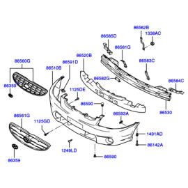 Решетка радиатора Hyundai Accent (2001-2006)