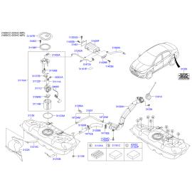 Насос топливный в сборе Hyundai Solaris (2010-н.в.)