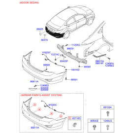 Бампер задний Hyundai Solaris седан (2010-н.в.)