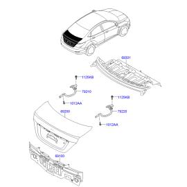 Крышка багажника Hyundai Solaris седан (2010-н.в.)