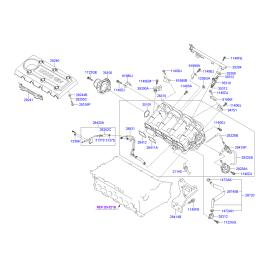 Прокладка впускного коллектора Hyundai ix35 АКПП (2009-2015)