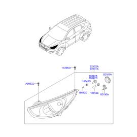 Фара левая Hyundai ix35 (2009-2015)