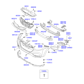 Фара противотуманная (ПТФ) правая Hyundai ix35 (2009-2015)