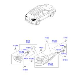 Фонарь левый внутренний Hyundai ix35 (2009-2015)