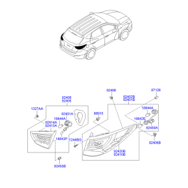 Фонарь правый наружный Hyundai ix35 (2009-2015)