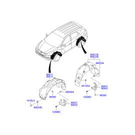 Подкрылок задний правый Hyundai ix35 (2009-2015)