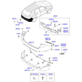 Усилитель бампера заднего Hyundai ix35 (2009-2015)
