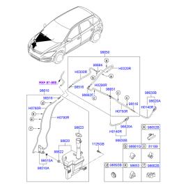 Бачок омывателя Hyundai i30 I (2007-2012)