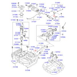 Насос топливный в сборе Hyundai i30 I (2007-2012)