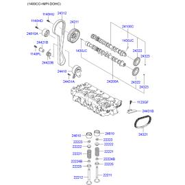 Клапан выпускной Hyundai Accent (2001-2006)