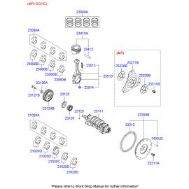 Кольца поршневые Hyundai Accent (2001-2006)