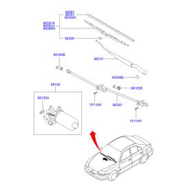 Мотор стеклоочистителя Hyundai Accent (2001-2006)