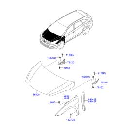 Крыло переднее правое Hyundai i40 (2012-н.в.)