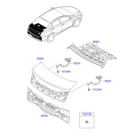 Крышка багажника Hyundai i40 (2012-н.в.)