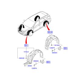 Подкрылок задний правый Hyundai i40 (2012-н.в.)