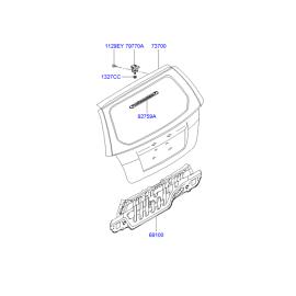 Крышка багажника Hyundai Getz (2002-2011)
