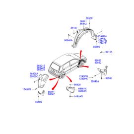 Подкрылок задний правый Hyundai Getz (2002-2011)